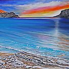 Lulworth Cove at Sunset by Annie Lovelass