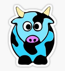 ღ°㋡Cute Baby Blue Cow Clothing & Stickers㋡ღ° Sticker
