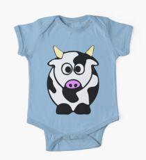 ღ°㋡Cute Brindled Cow Clothing & Stickers㋡ღ° One Piece - Short Sleeve