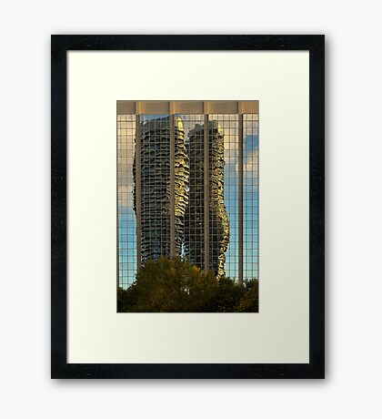 Marilyn Monroe Towers Reflected Framed Print
