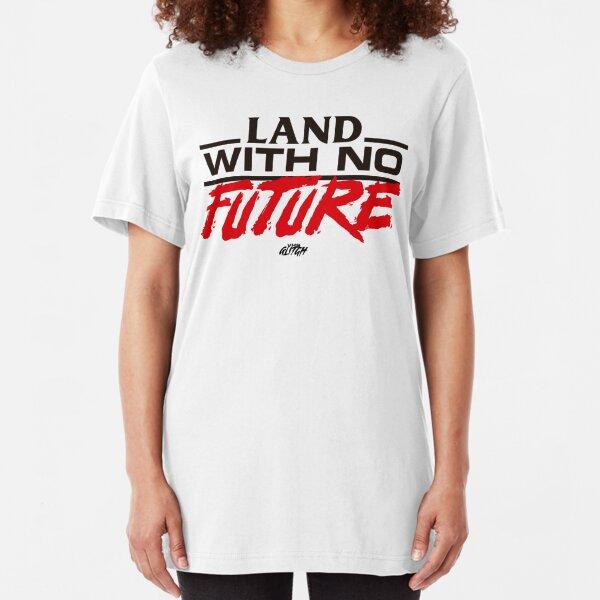 VHS Glitch - Land With No Future - Dark Edition Slim Fit T-Shirt
