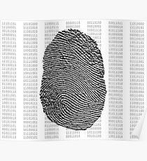 Fingerprint over binary numbers Poster