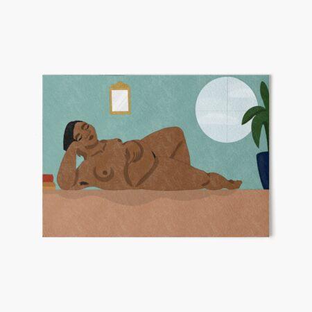 Reclining Nude Art Board Print