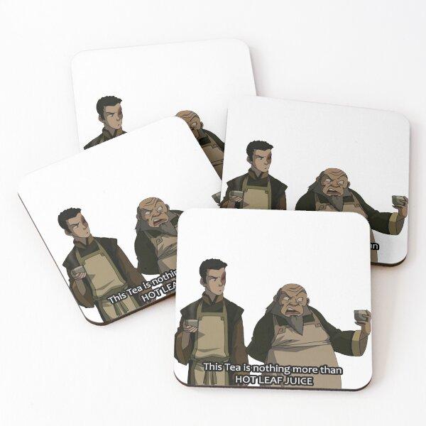 HOT LEAF JUICE Zuko and Iroh Avatar Coasters (Set of 4)