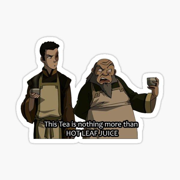 HOT LEAF JUICE Zuko and Iroh Avatar Sticker