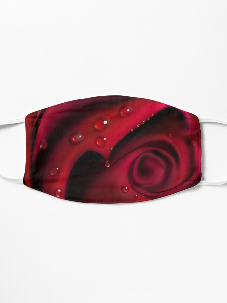 Alternate view of Red Rose Mask