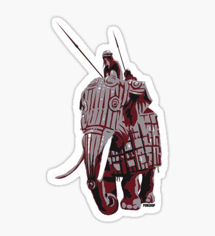 Elephant Riders Sticker