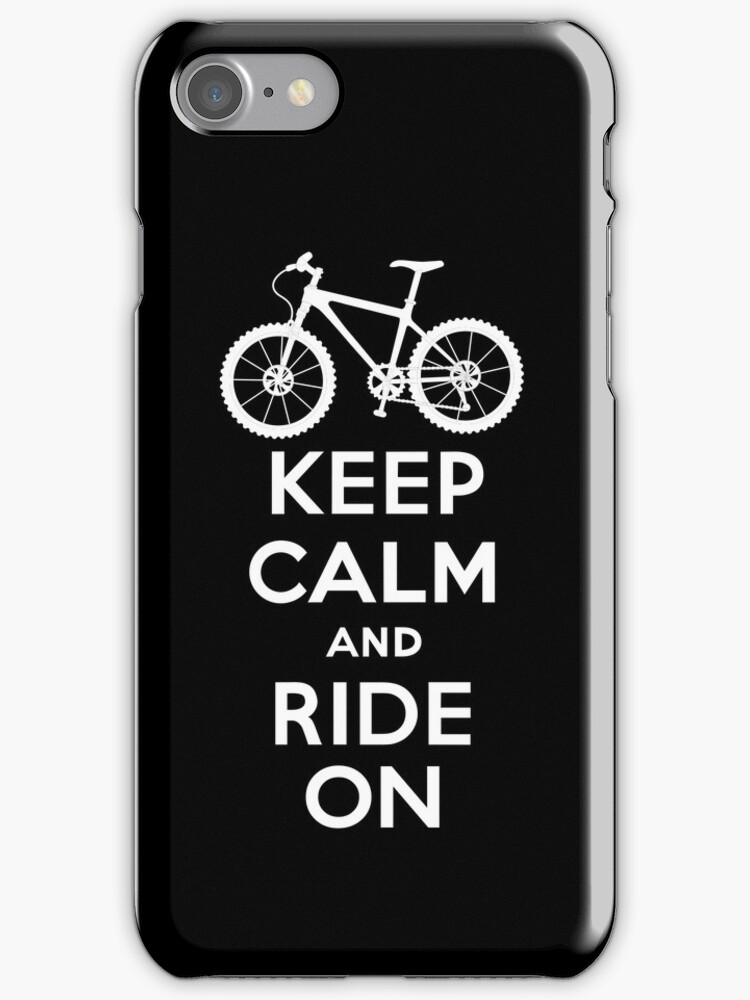 Keep Calm and Ride On  black  3G  4G  4s iPhone case  by Andi Bird