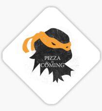 Pegatina Llega la pizza - Sticker / Cases / Pillow / Print on White