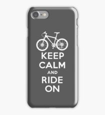 Keep Calm and Ride On  grey  3G  4G  4s iPhone case  iPhone Case/Skin