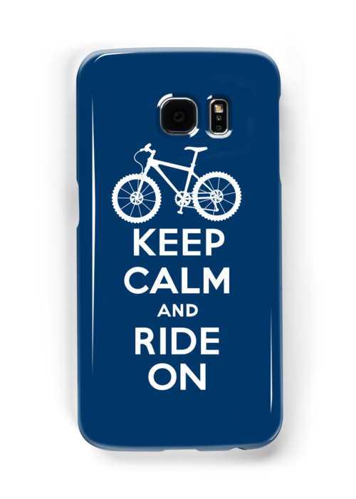 Keep Calm and Ride On  navy  3G  4G  4s iPhone case  by Andi Bird