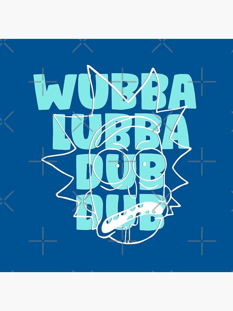 Wubba Lubba Dub Dub - Abstract Awesome Line Art by WaltTheAdobeGuy