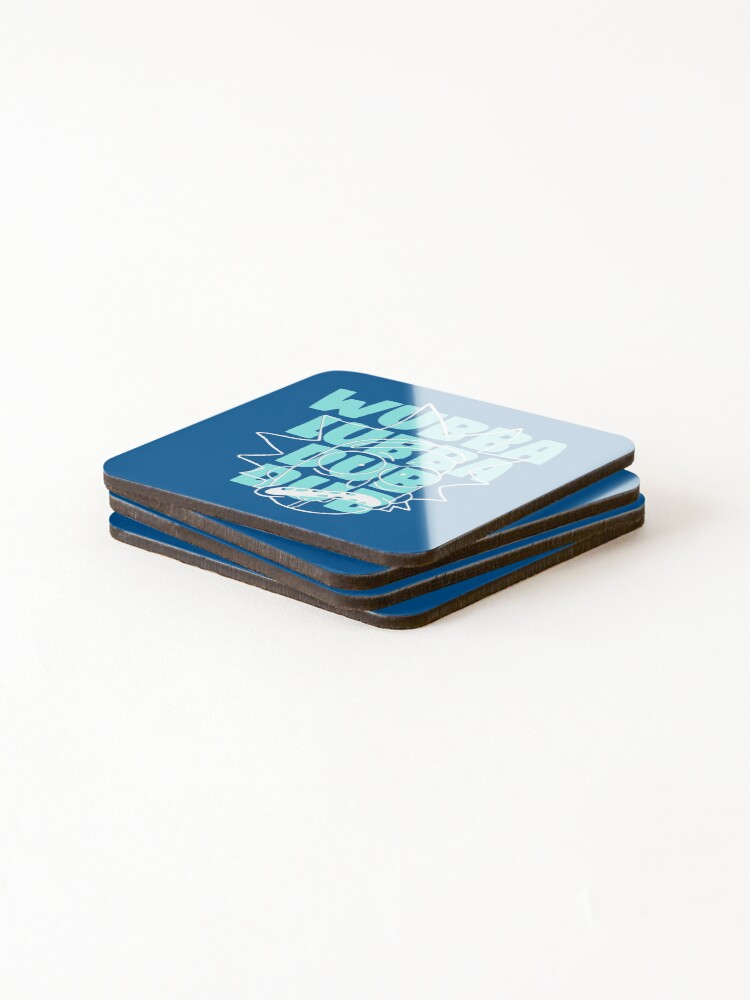 Alternate view of Wubba Lubba Dub Dub - Abstract Awesome Line Art Coasters (Set of 4)