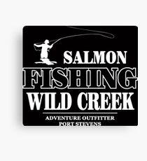 Salmon Fishing Canvas Print