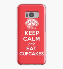 Keep Calm and Eat Cupcakes  red 3G  4G  4s iPhone case  Samsung Galaxy Case/Skin