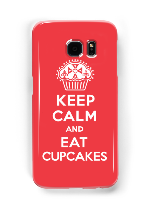 Keep Calm and Eat Cupcakes  red 3G  4G  4s iPhone case  by Andi Bird