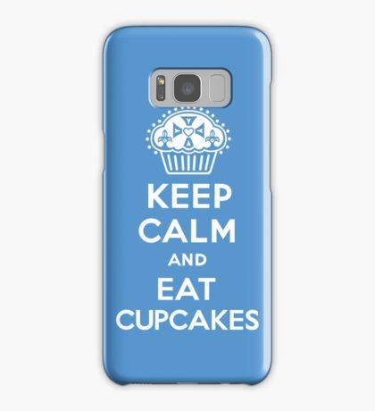 Keep Calm and Eat Cupcakes blue 3G  4G  4s iPhone case  Samsung Galaxy Case/Skin