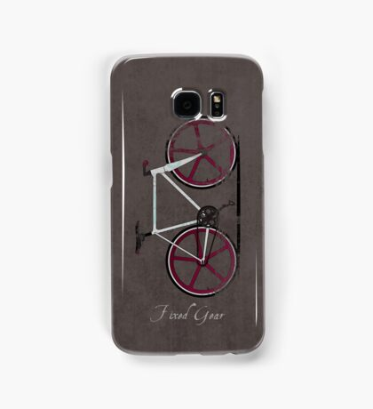 Fixed Gear White Bicycle Samsung Galaxy Case/Skin
