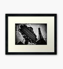 Travel BW - Paris Eiffel Tower I Framed Print