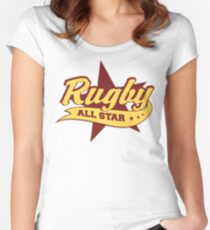 Retro Rugby Women's Fitted Scoop T-Shirt