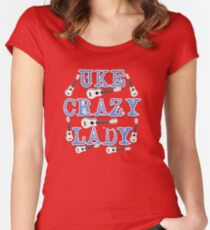 Uke Crazy Lady Women's Fitted Scoop T-Shirt