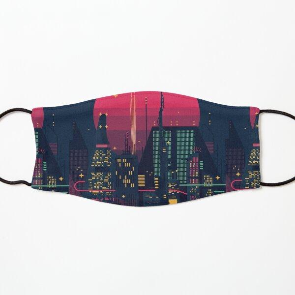 Night Dystopian Cityscape Kids Mask