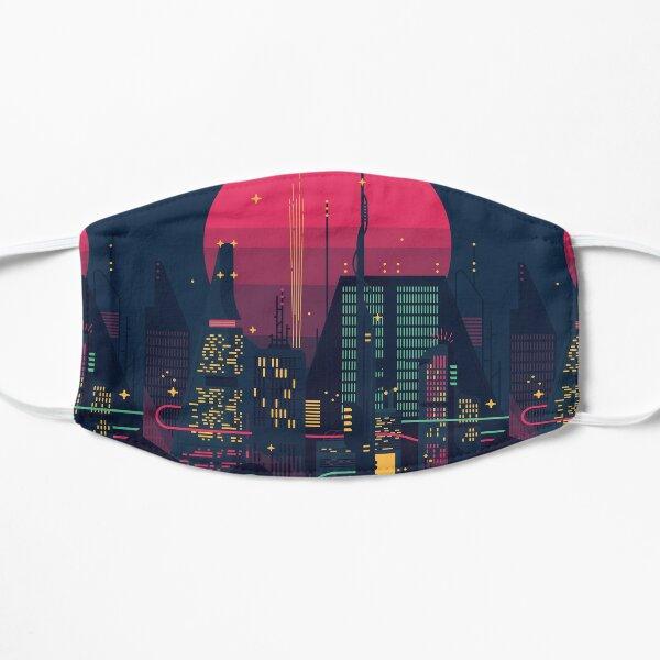 Night Dystopian Cityscape Mask