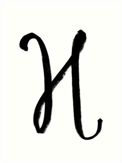 The Letter H Art Prints By Alphabeautiful