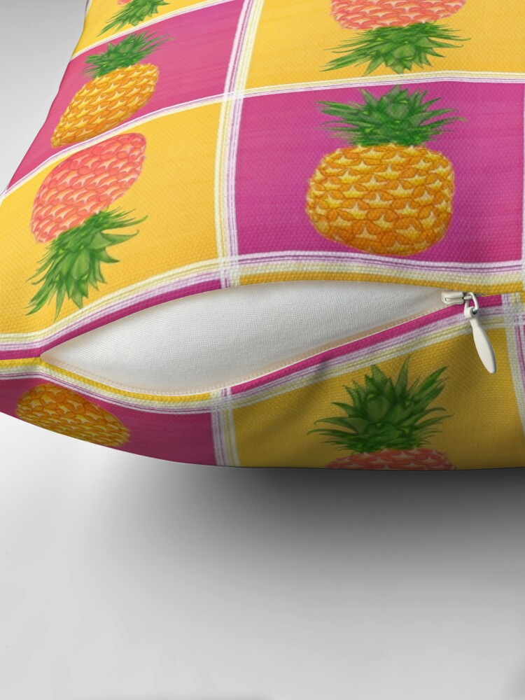 Alternate view of Pink Pineapple Throw Pillow