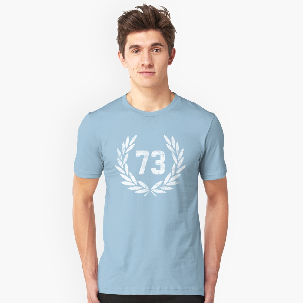 73 (aged look) Unisex T-Shirt Front