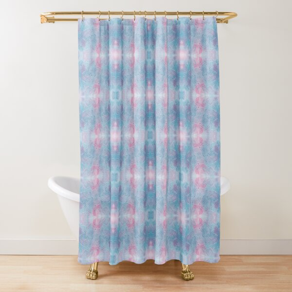 Pastel Kaleidoscope  Shower Curtain