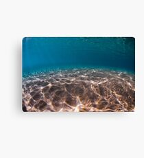 Sand sea bed photographed underwater Canvas Print
