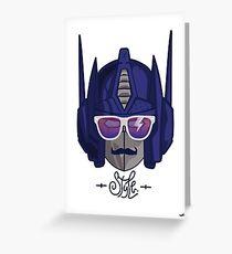 optimus style Greeting Card