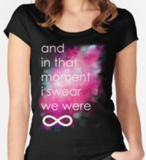the perks of being a wallflower Women's Fitted Scoop T-Shirt