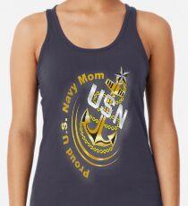 Proud U.S. Navy Mom Racerback Tank Top