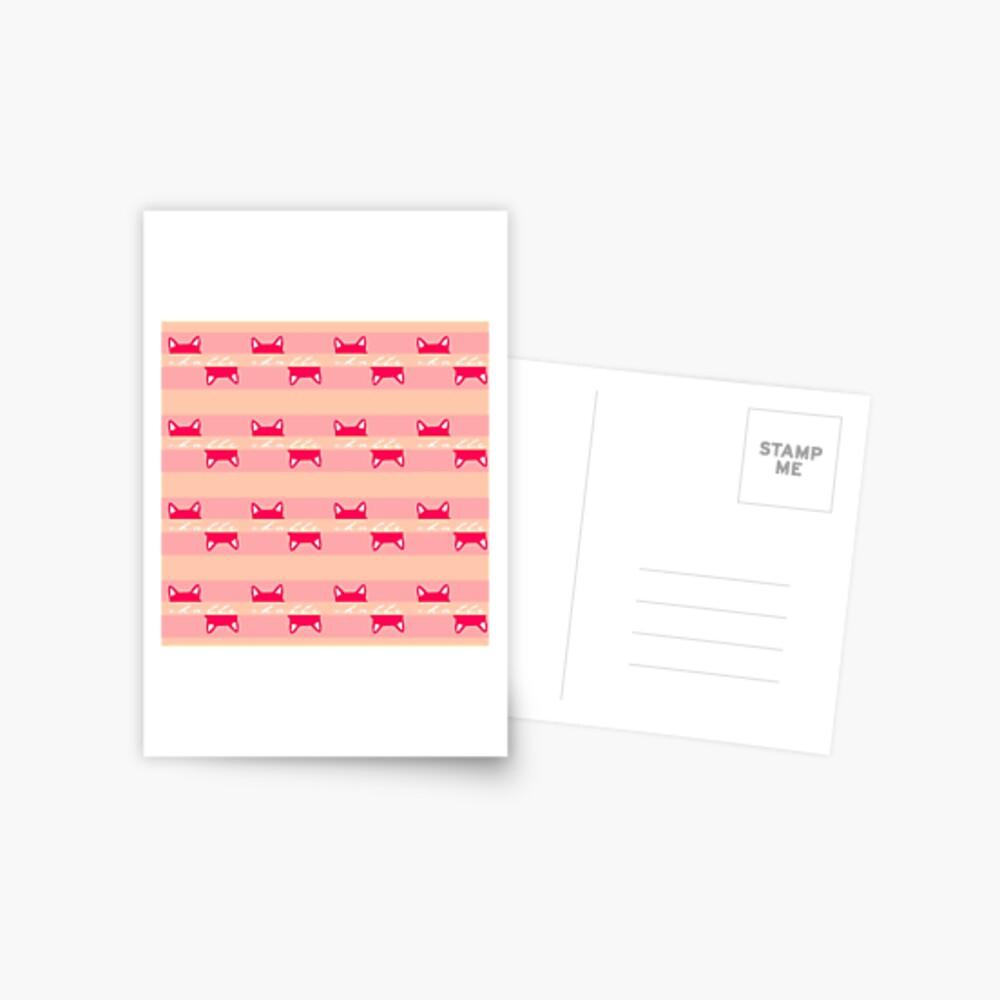 Chatte the cat | Stripes Pattern Postcard