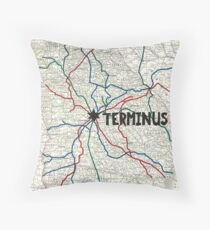 The Walking Dead - Terminus Map Throw Pillow