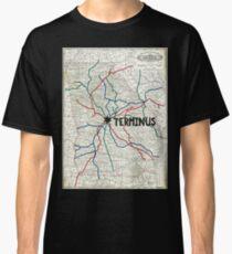 The Walking Dead - Terminus Map Classic T-Shirt