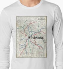 The Walking Dead - Terminus Map Long Sleeve T-Shirt