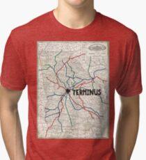 The Walking Dead - Terminus Map Tri-blend T-Shirt
