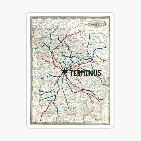 The Walking Dead - Mapa de Terminus Pegatina