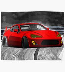 Red drift Poster