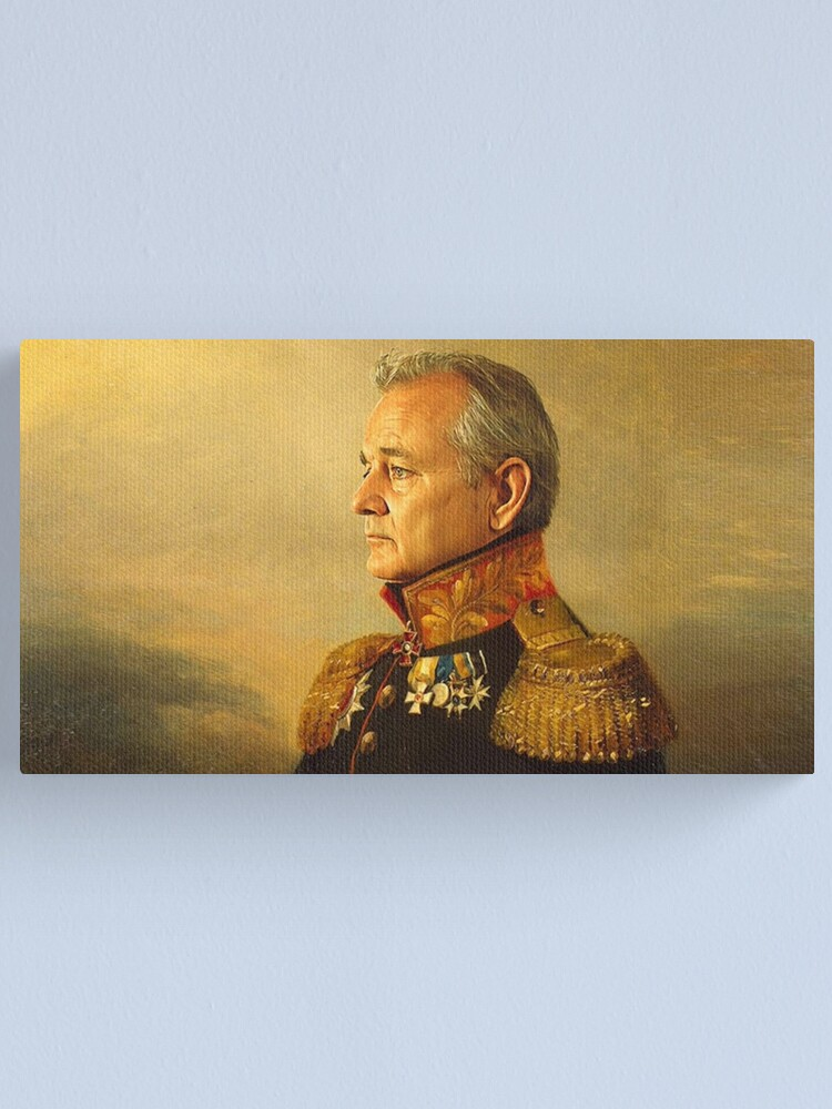 Alternate view of General Bill Murray classic painting  Canvas Print