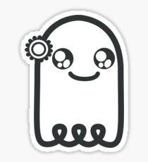 Gulliver the Ghost (black) Sticker