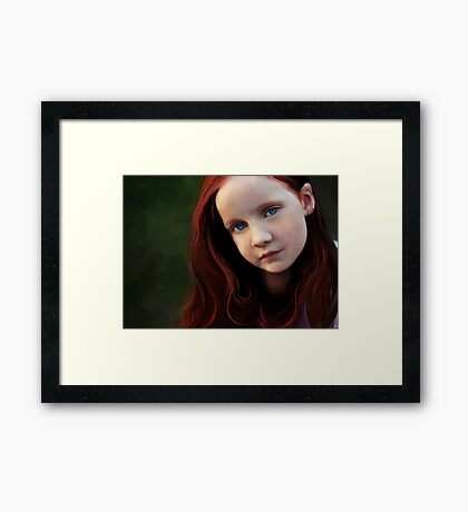Searching for the poetry of pixels as paint... Framed Print