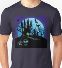 Haunted Halloween Castle 3 Unisex T-Shirt
