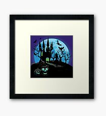 Haunted Halloween Castle 3 Framed Print