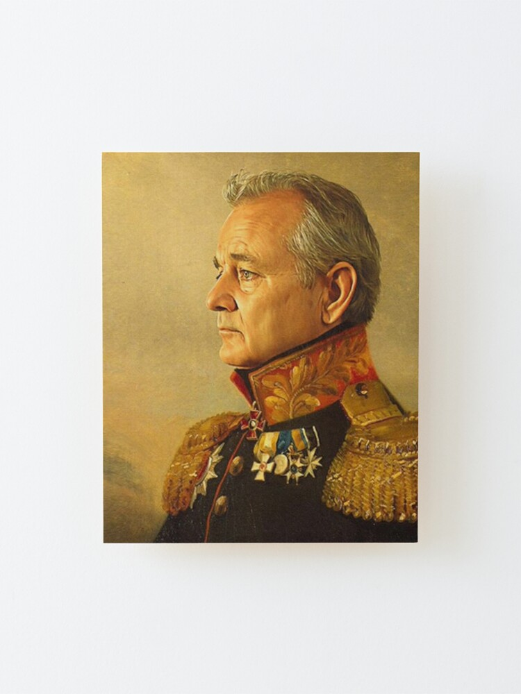 Alternate view of General Bill Murray classic painting  Mounted Print