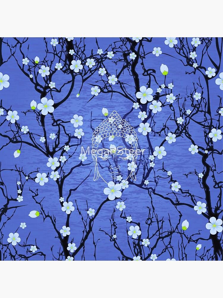 Buddha in the Garden-Blue by MeganSteer