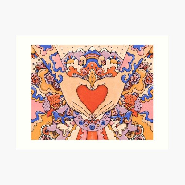 Love in Your Hands Art Print